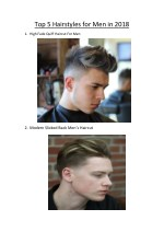 top 5 hairstyles for men in 2018