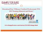 download free vmware certified professional 2v0 602 training material and demo