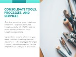 consolidate tools processes and services