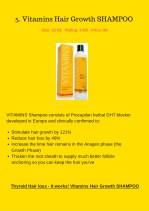 5 vitamins hair growth shampoo