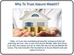 why to trust assure wealth