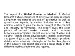 the report for global kombucha market of market