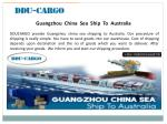 guangzhou china sea ship to australia