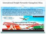 international freight forwarder guangzhou china