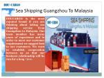sea shipping guangzhou to malaysia