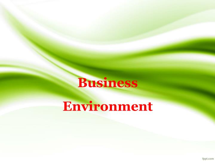 business environment n.