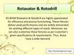 rotavator rotodrill