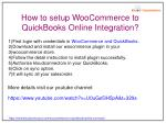 how to setup woocommerce to quickbooks online