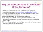 why use woocommerce to quickbooks online connector