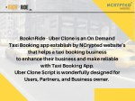 booknride uber clone is an on demand taxi booking
