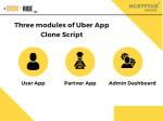 three modules of uber app clone script