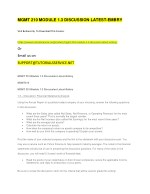 mgmt 210 module 1 3 discussion latest embry