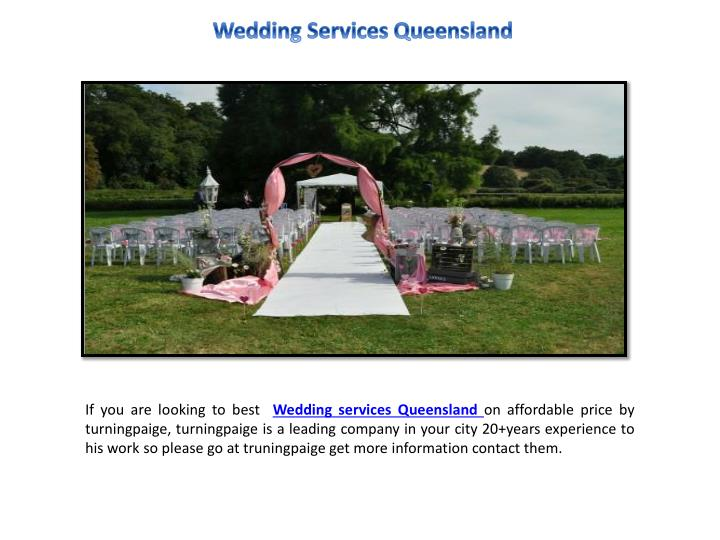 wedding services queensland n.