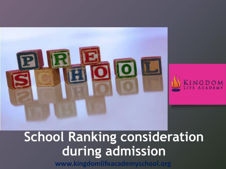 school ranking consideration during admission n.
