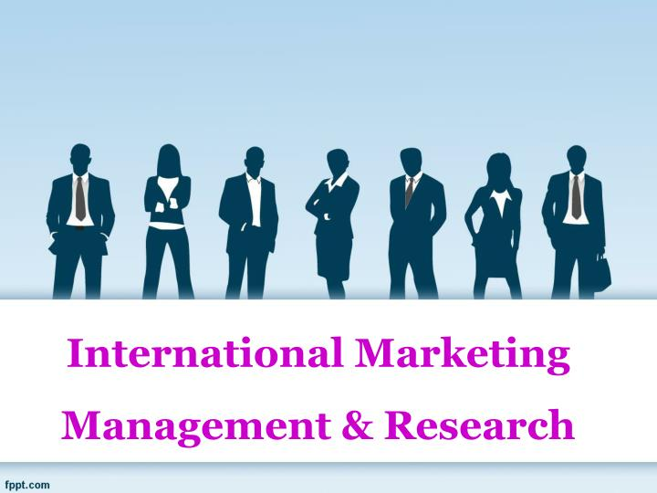 international marketing management research n.
