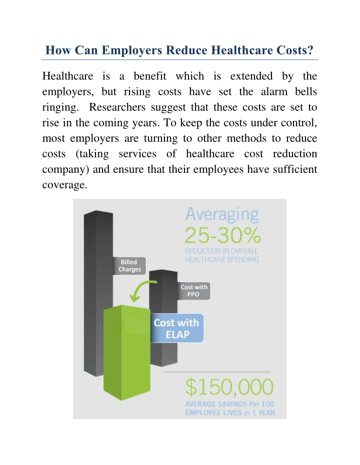 how can employers reduce healthcare costs n.