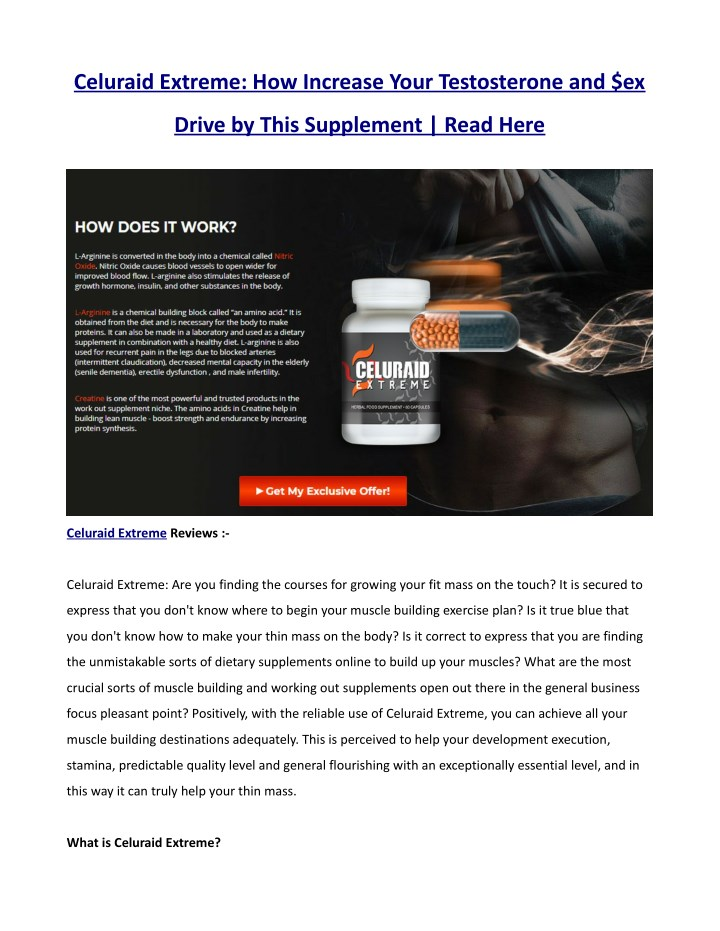 celuraid extreme how increase your testosterone n.