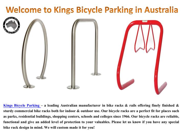welcome to kings bicycle parking in australia n.