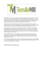 tensilemill cnc inc offers you a full range