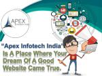 apex infotech india is a place where your dream