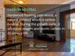 carbon neutral hardwood flooring uses wood