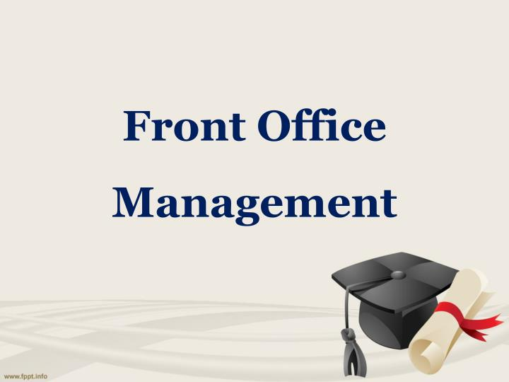 front office management n.