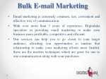 bulk e mail marketing