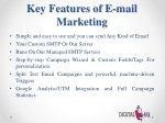 key features of e mail marketing