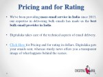 pricing and for rating
