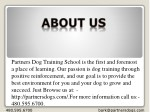 partners dog training school is the first