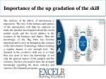 importance of the up gradation of the skill