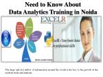 need to know about data analytics training
