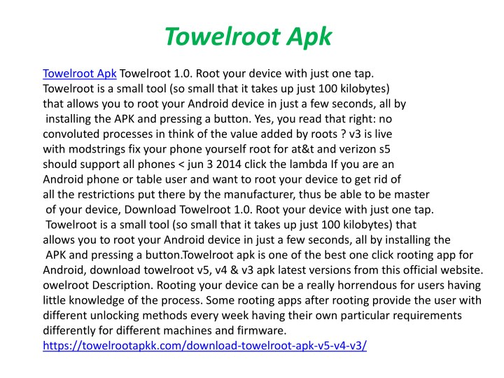 towelroot apk n.
