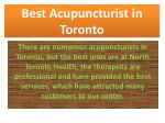 best acupuncturist in toronto
