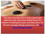 hot stone massage aims to help a person