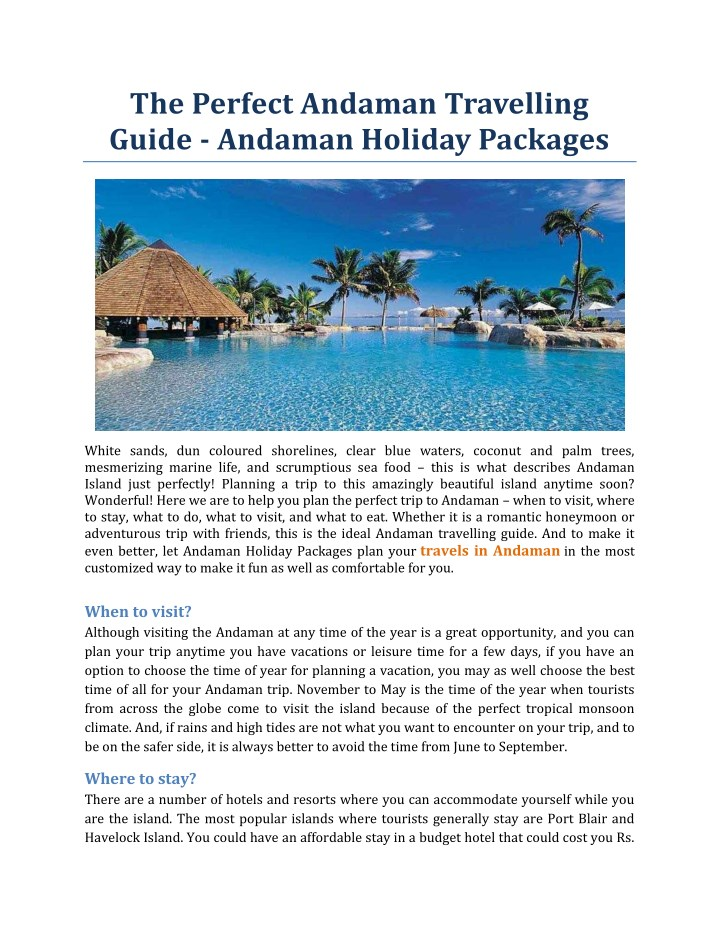 the perfect andaman travelling guide andaman n.