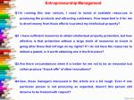 entrepreneurship management q1 in running this