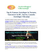 top famous astrologer in toronto vancouver