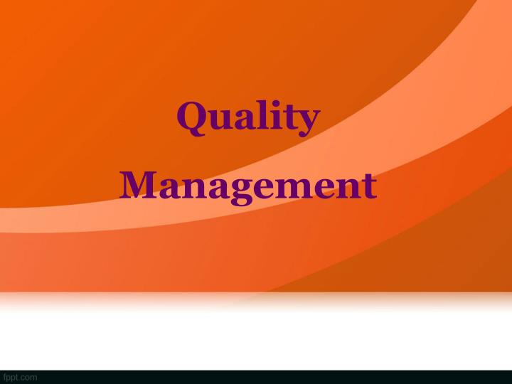quality management n.