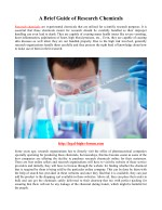 a brief guide of research chemicals