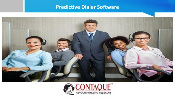 predictive dialer software n.