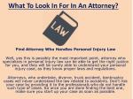 what to look in for in an attorney