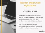 flaws in online event registration