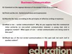 business communication q1 comment