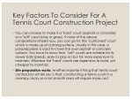 key factors to consider for a tennis court 1
