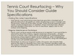 tennis court resurfacing why you should consider