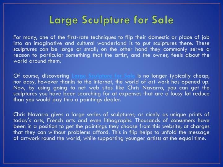 large sculpture for sale n.