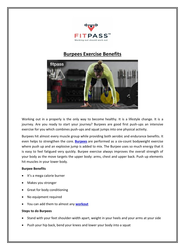 burpees exercise benefits n.