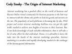 cody emsky the origin of internet marketing 1