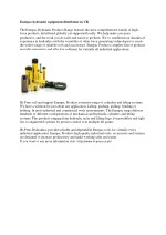enerpac hydraulic equipment distributor